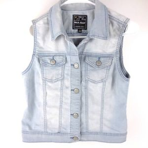Light Wash Blue Jean Denim Vest A3